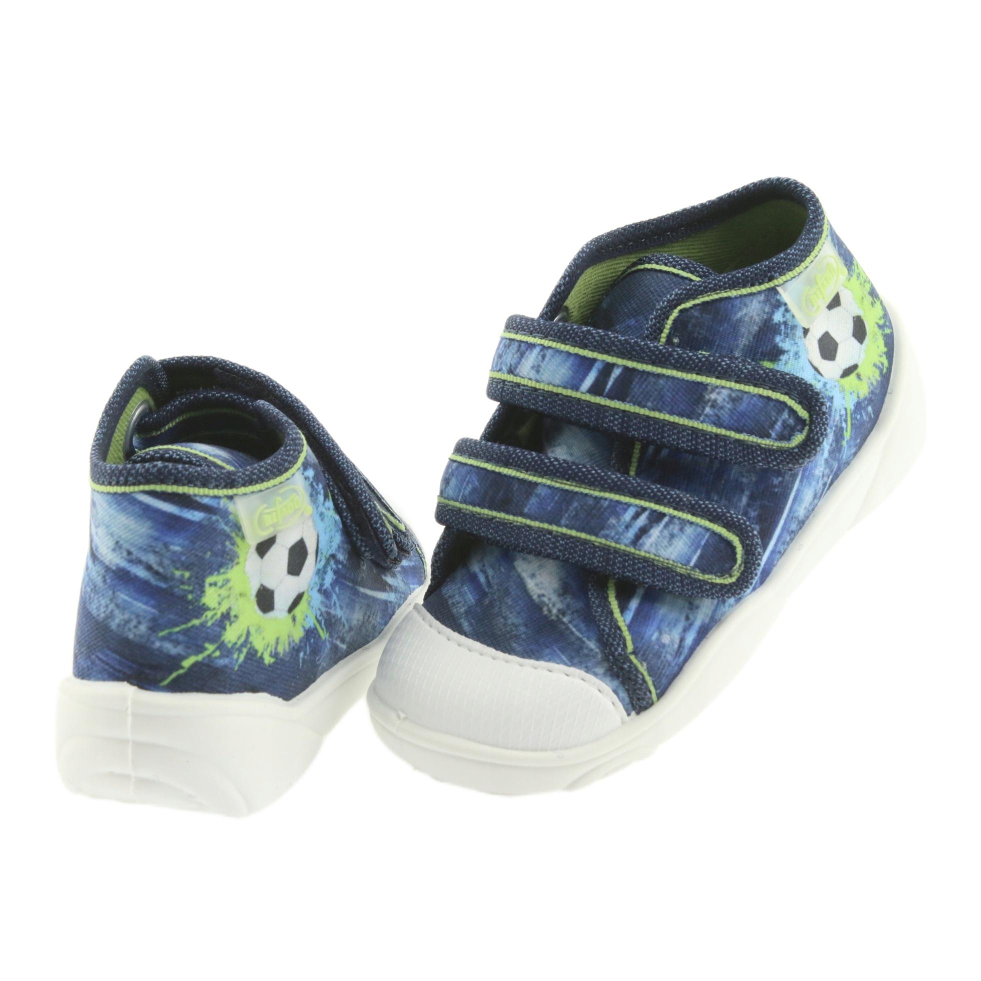miniatura 5 - Scarpe da calcio per bambini Befado 212P058 blu verde marina