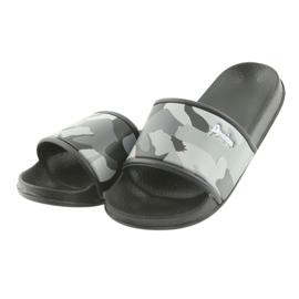 Pantofole camo profilato American Club grigio 4