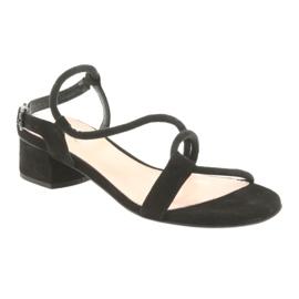 Tacchi alti sandali neri Edeo 3386 nero 1