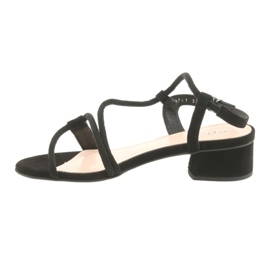 Tacchi alti sandali neri Edeo 3386 nero 2