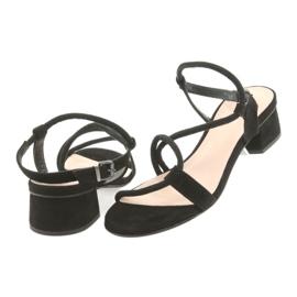 Tacchi alti sandali neri Edeo 3386 nero 4