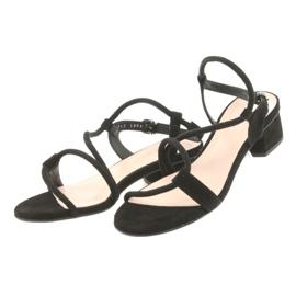 Tacchi alti sandali neri Edeo 3386 nero 3