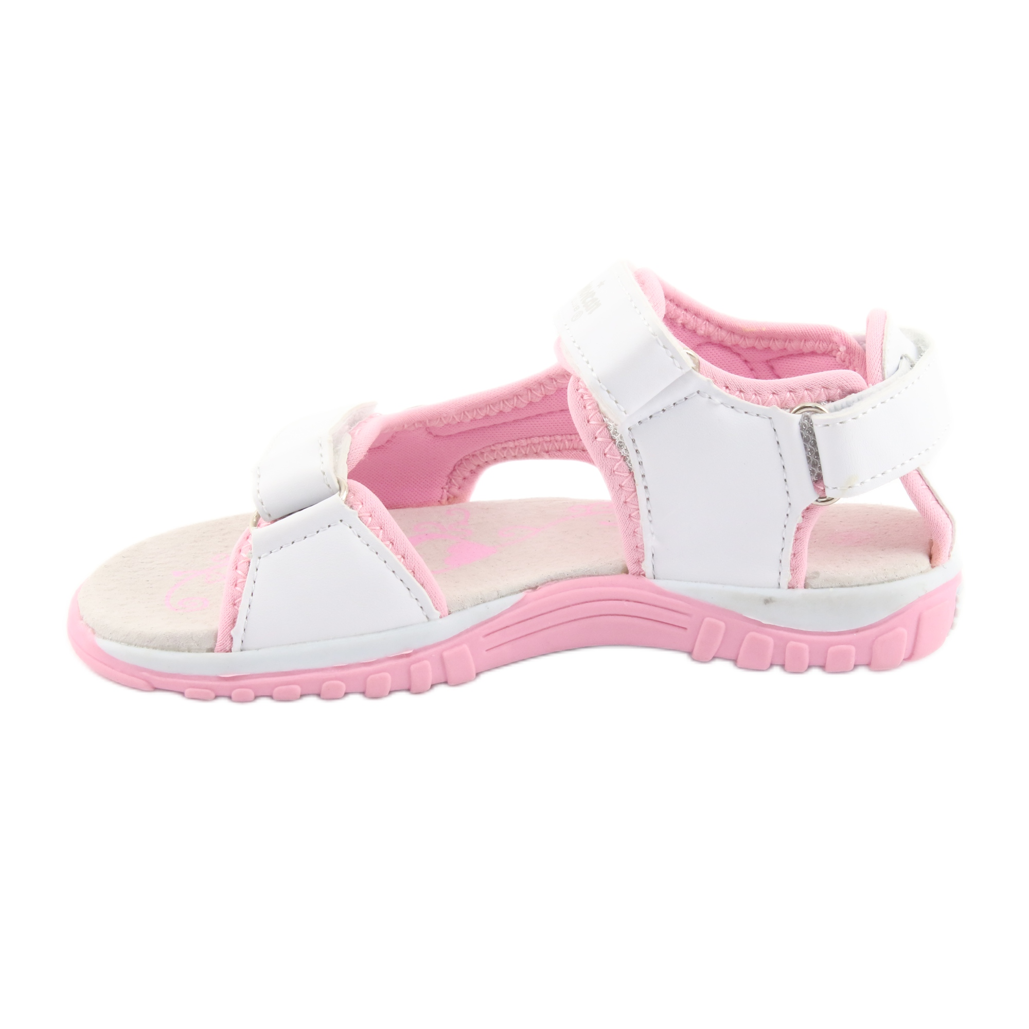 miniatura 3 - Sandali da donna di American Club bianco grigio rosa