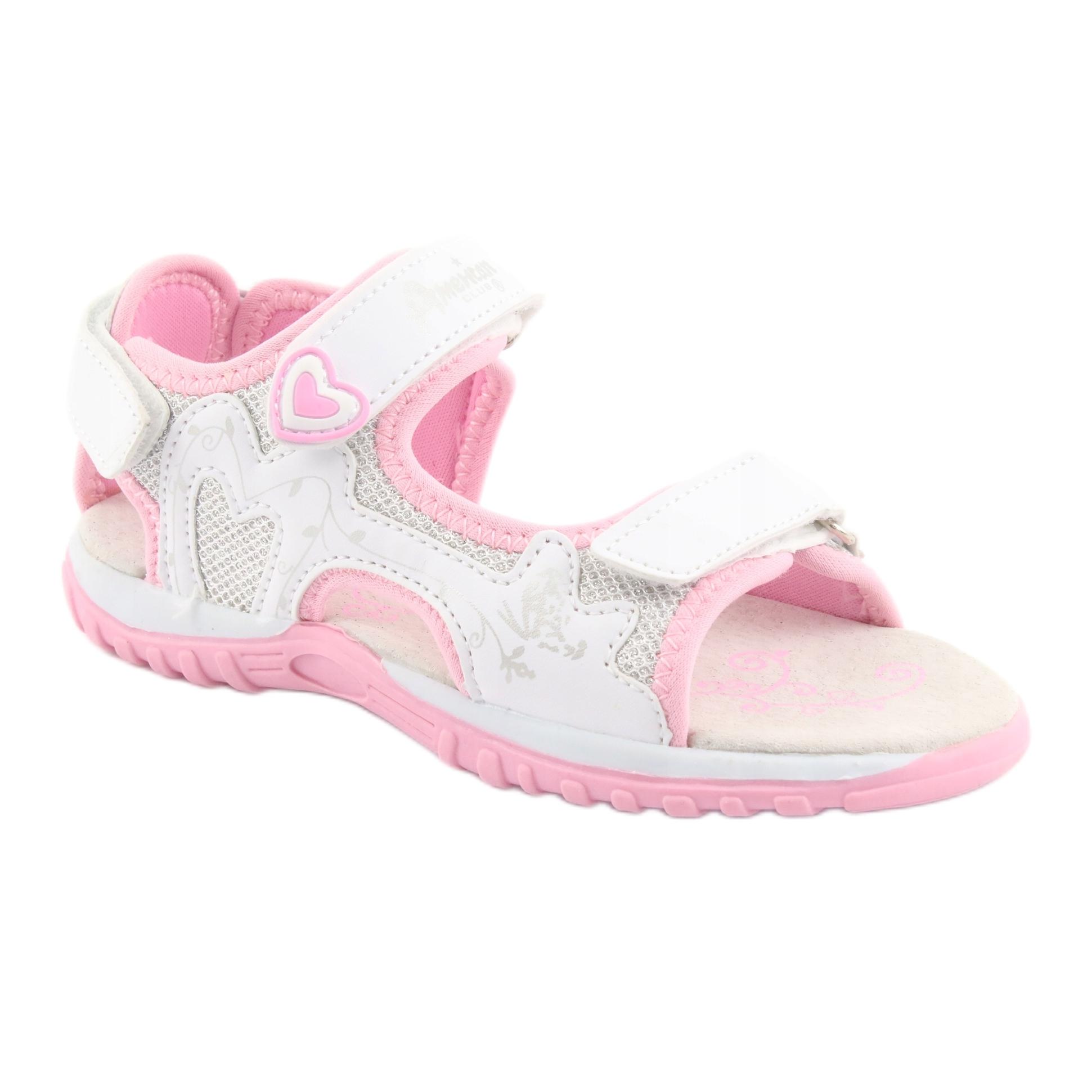 miniatura 2 - Sandali da donna di American Club bianco grigio rosa