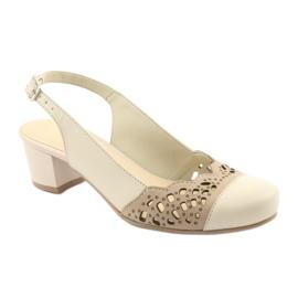 Gregors 771 sandali da donna beige marrone 1