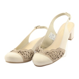 Gregors 771 sandali da donna beige marrone 3