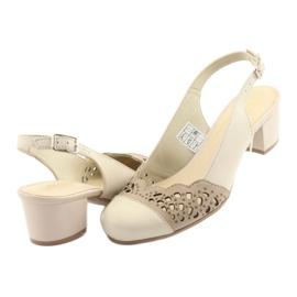 Gregors 771 sandali da donna beige marrone 4