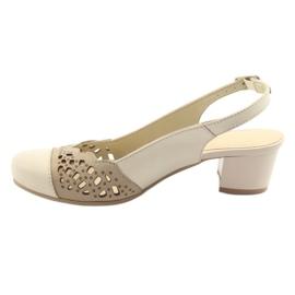 Gregors 771 sandali da donna beige marrone 2