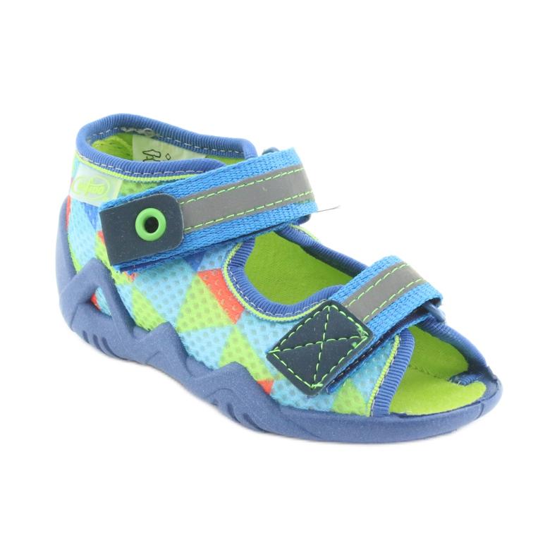Pantofole blu verde Befado 250P059 immagine 1