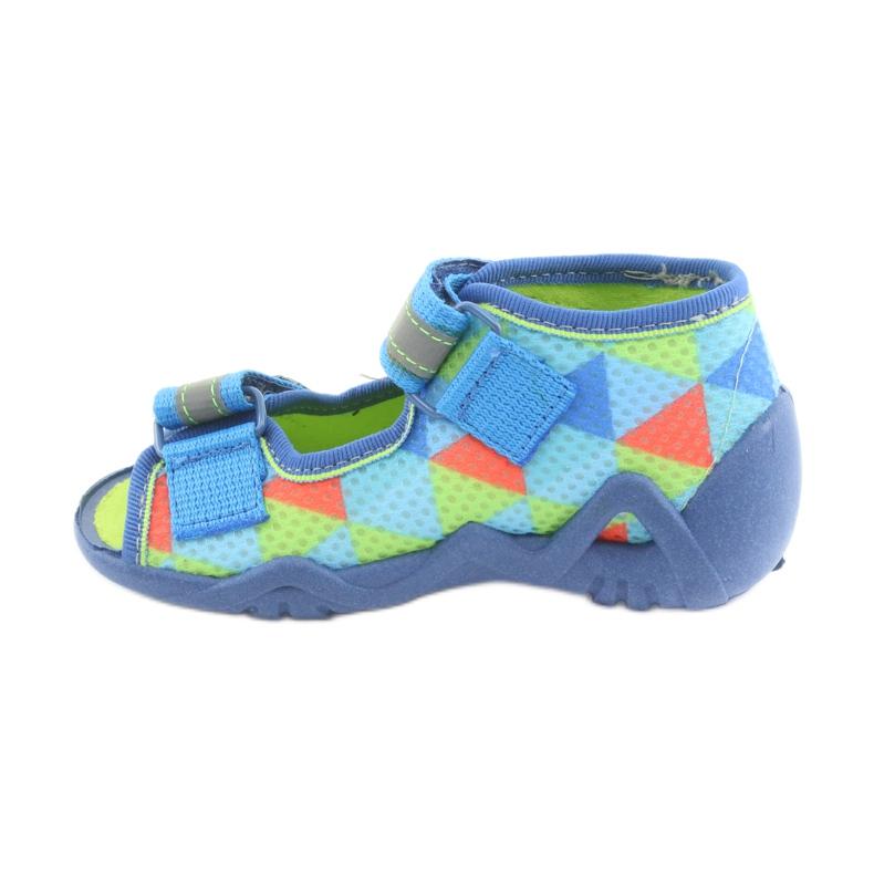 Pantofole blu verde Befado 250P059 immagine 2