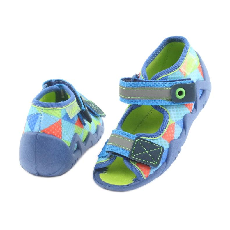 Pantofole blu verde Befado 250P059 immagine 4
