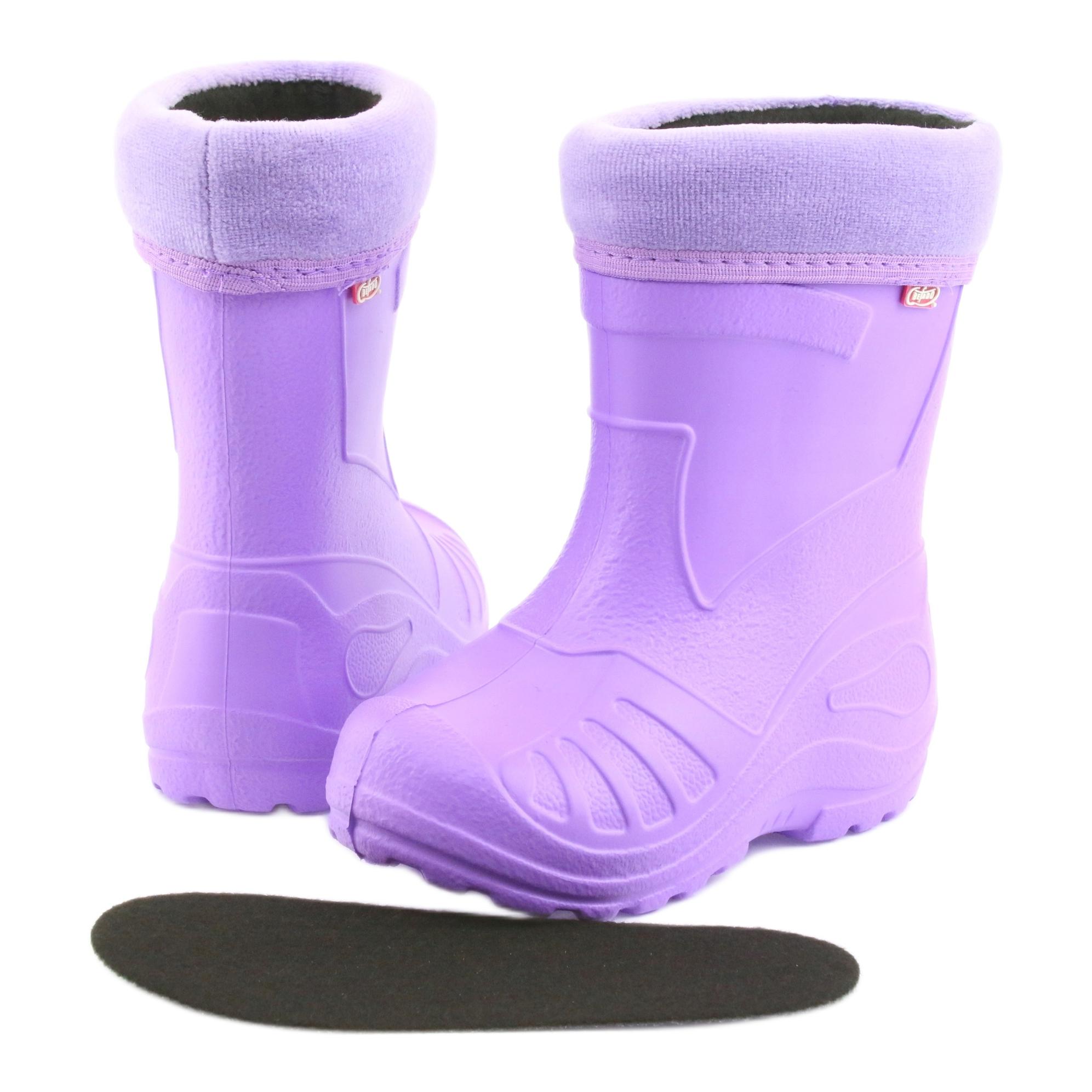 miniatura 5 - Stivali da pioggia per bambini Befado viola 162X102 porpora