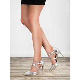 Kylie Borchie di moda lucido grigio 1