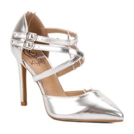 Kylie Borchie di moda lucido grigio 3