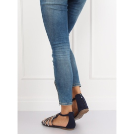 Sandali da donna blu navy LL6339 Blu marina 2