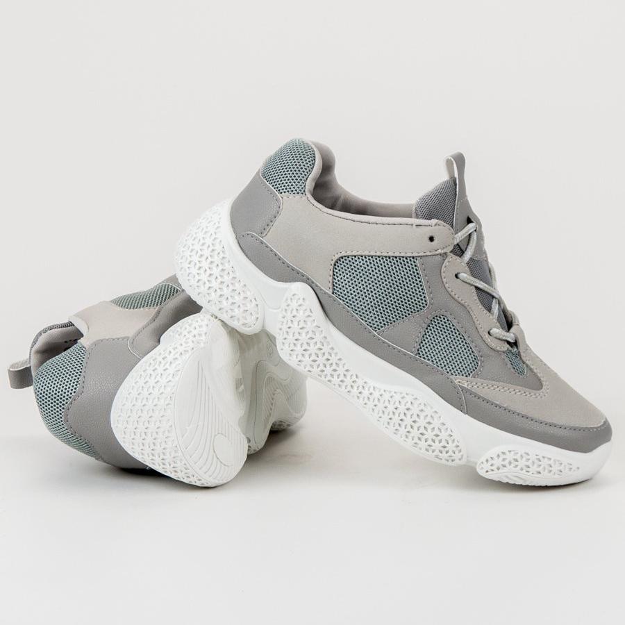 SHELOVET grigio Scarpe da ginnastica grigie alla moda