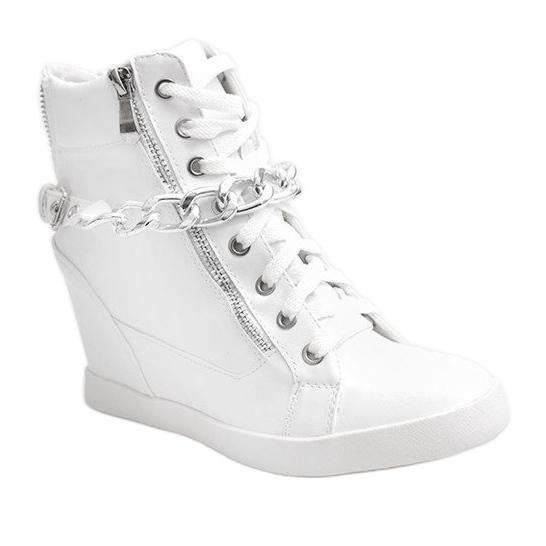 new concept 43400 a07f6 Stivaletti Sneakers Con Zeppa 8089 Bianco