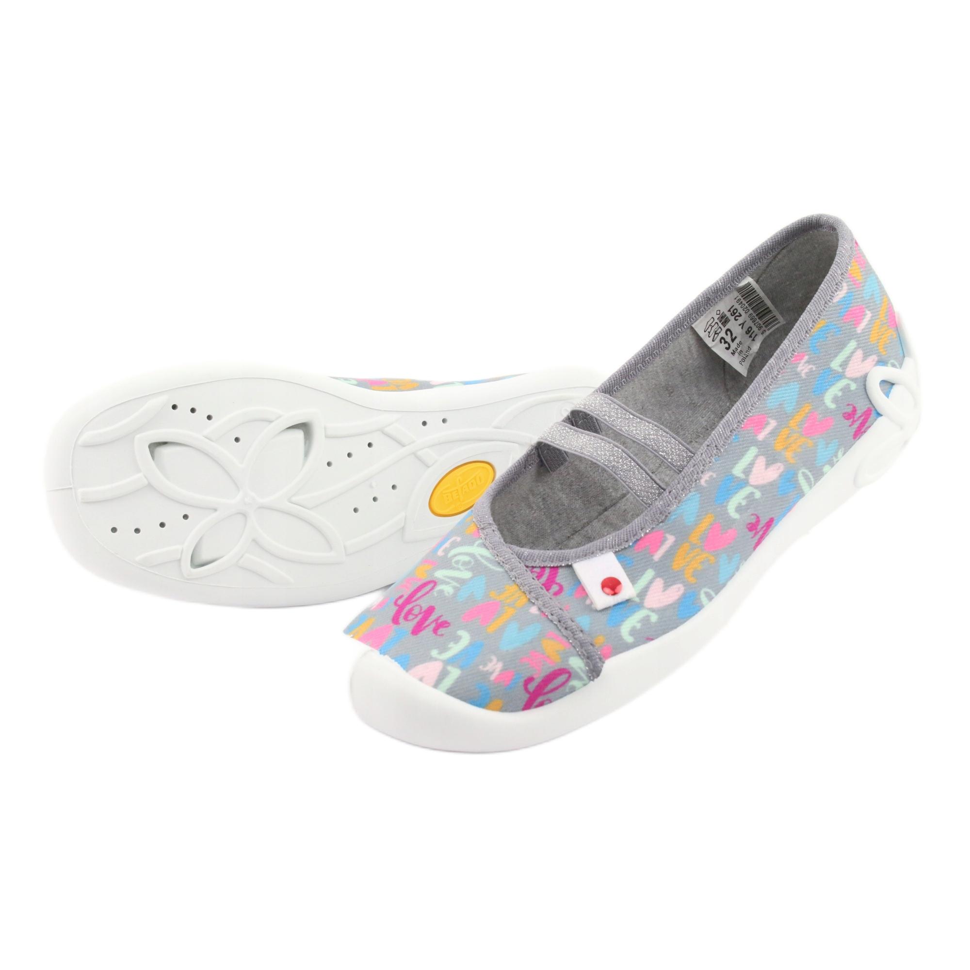 miniatura 6 - Scarpe per bambini Befado 116Y261 blu rosa grigio verde giallo