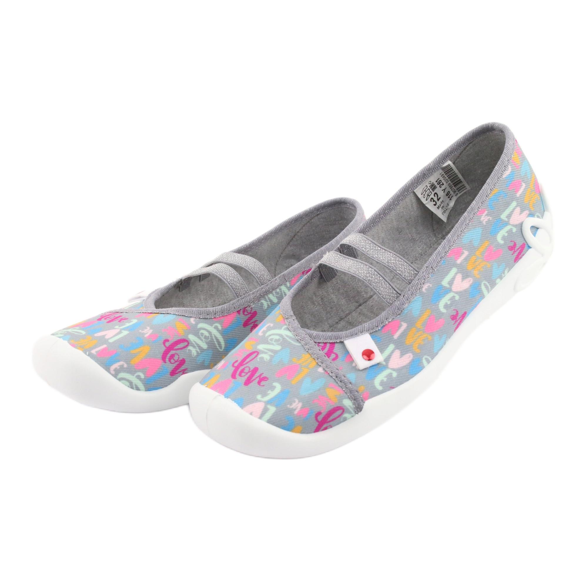 miniatura 4 - Scarpe per bambini Befado 116Y261 blu rosa grigio verde giallo