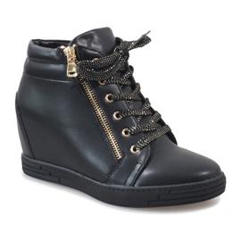 Sneaker nere con cursore TL-22 dorato nero 1