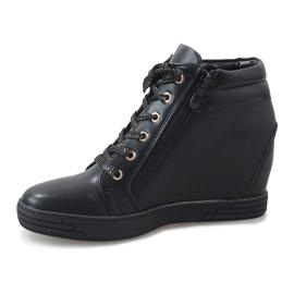 Sneaker nere con cursore TL-22 dorato nero 2