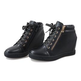 Sneaker nere con cursore TL-22 dorato nero 3