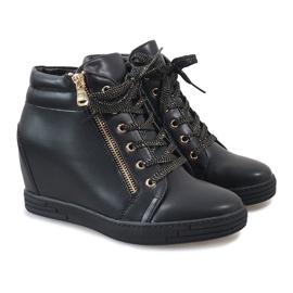 Sneaker nere con cursore TL-22 dorato nero 4
