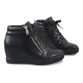 Sneaker nere con cursore TL-22 dorato nero 5