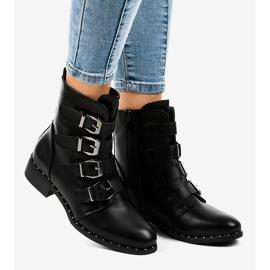 Stivali da donna neri con fibbie S120 nero 1