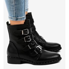 Stivali da donna neri con fibbie S120 nero 3