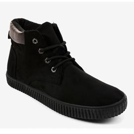 Sneaker da uomo isolata nera AN06 nero 1