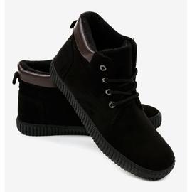 Sneaker da uomo isolata nera AN06 nero 2