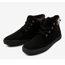 Sneaker da uomo isolata nera AN06 nero 3