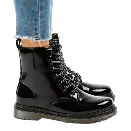 Stivali in vernice nera TL142-1 nero 2