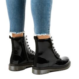 Stivali in vernice nera TL142-1 nero 3