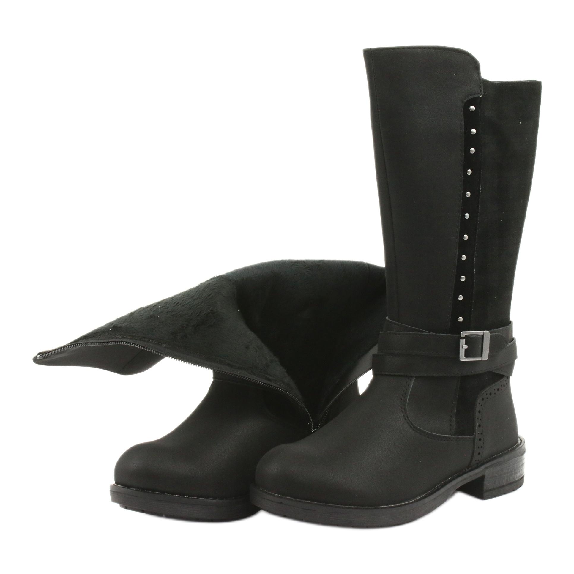 miniatura 6 - Stivali lunghi American Club GC31 con getti nero grigio
