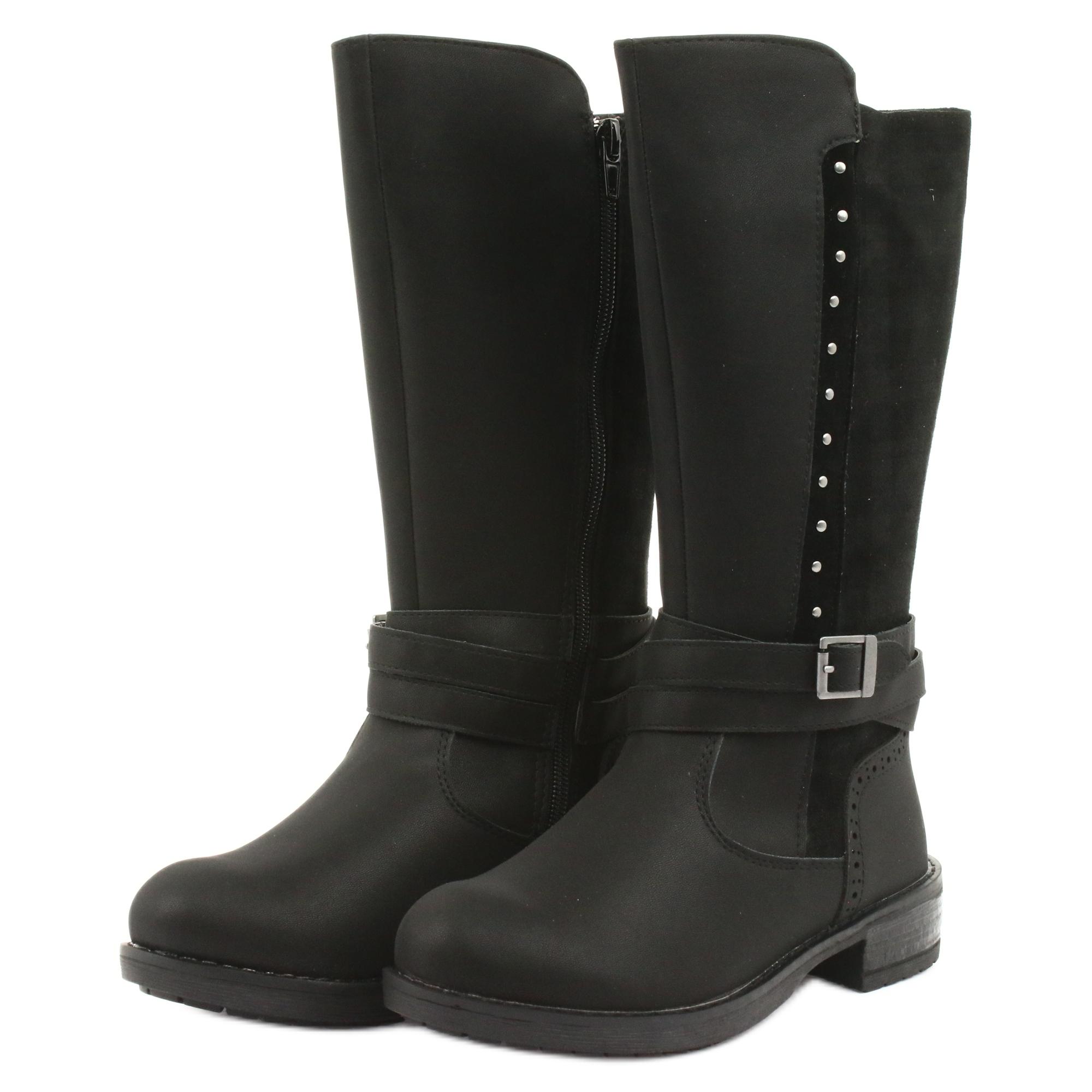 miniatura 4 - Stivali lunghi American Club GC31 con getti nero grigio