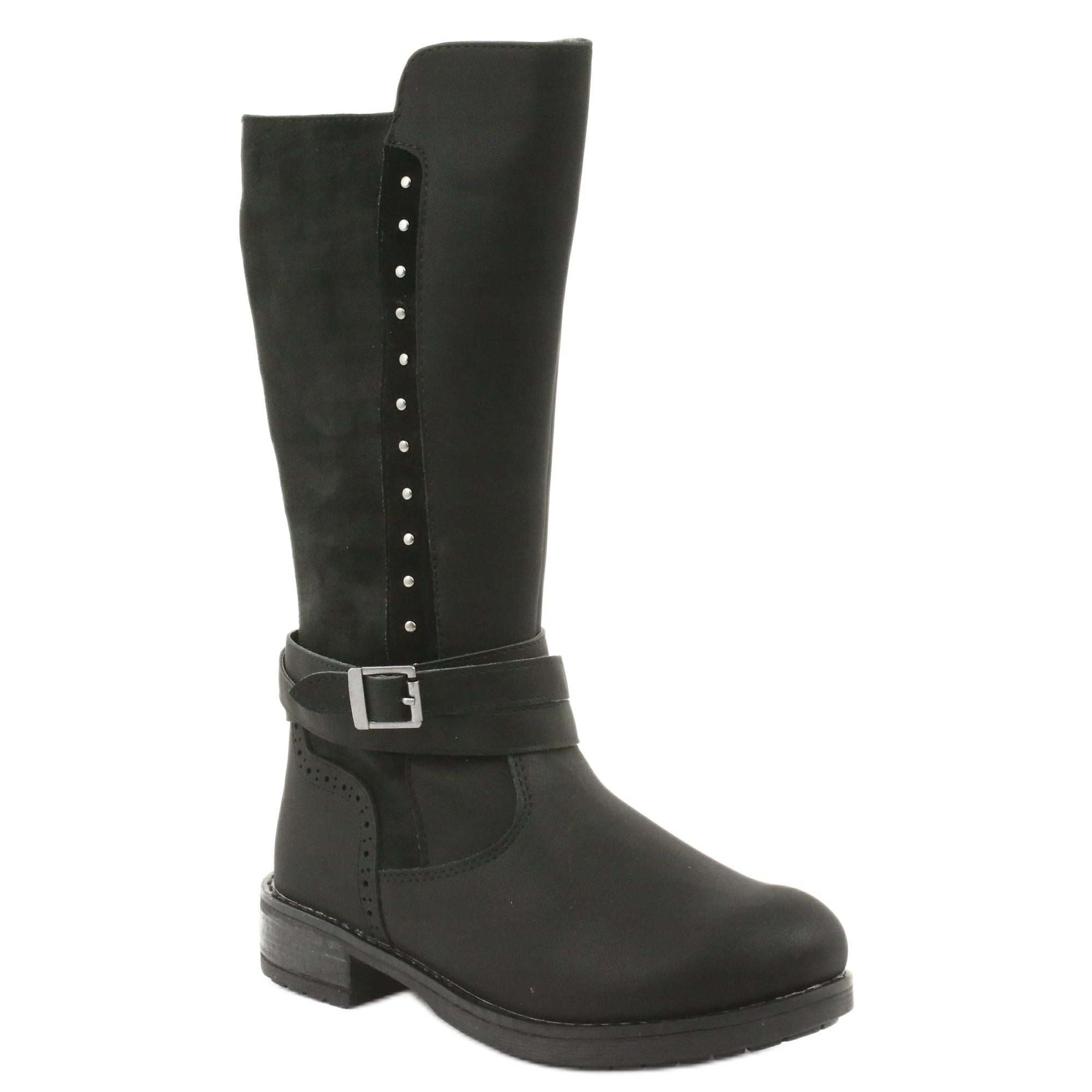 miniatura 2 - Stivali lunghi American Club GC31 con getti nero grigio