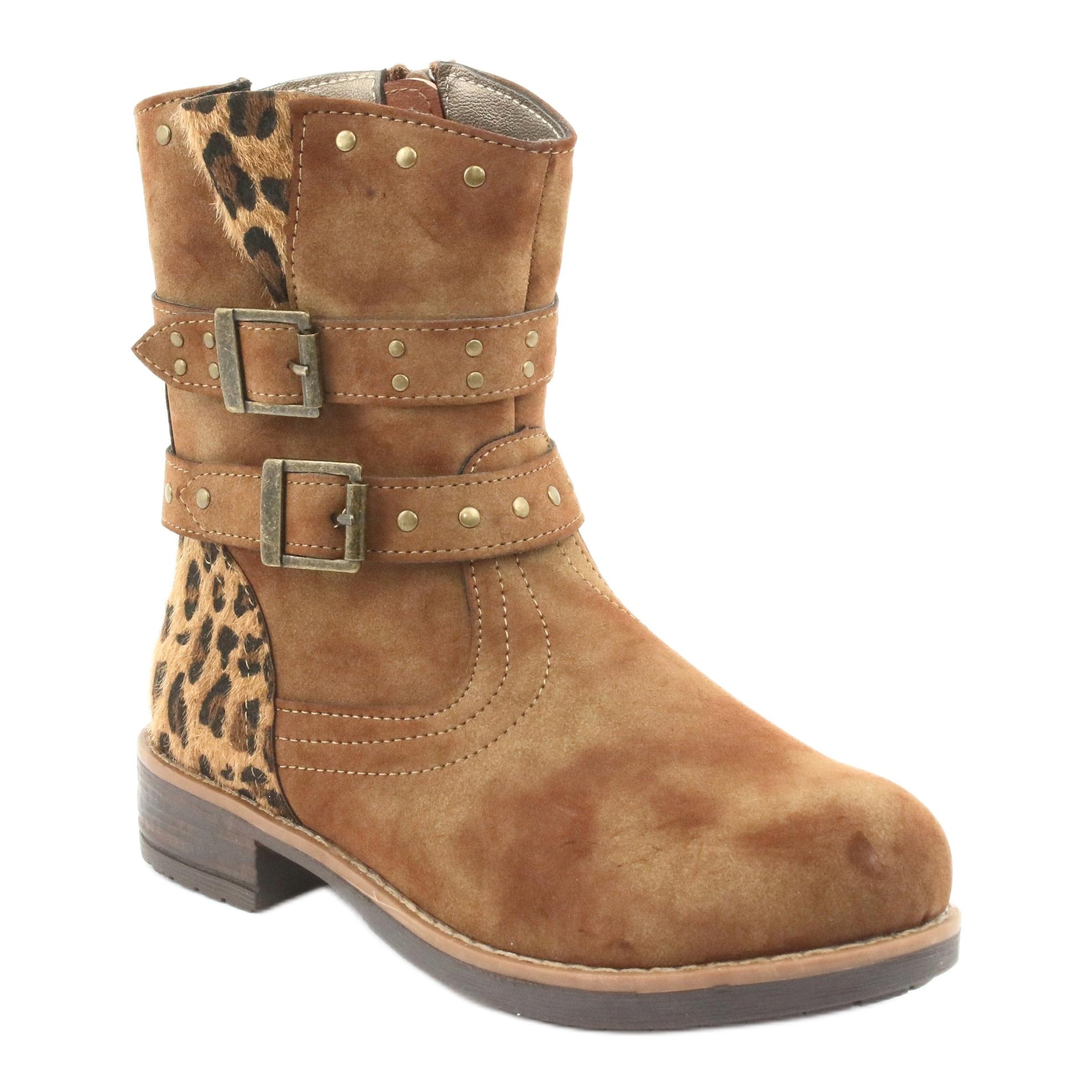 miniatura 2 - American Club Stivali di leopardo Getti marroni americani marrone