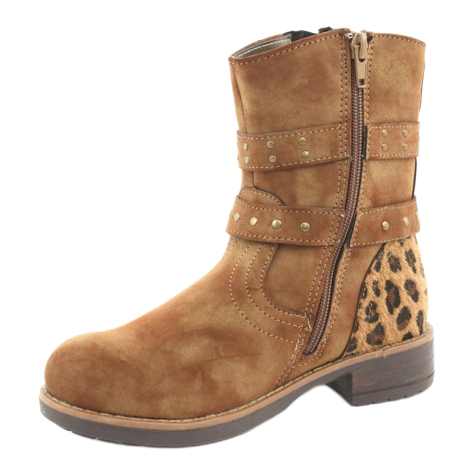 miniatura 3 - American Club Stivali di leopardo Getti marroni americani marrone