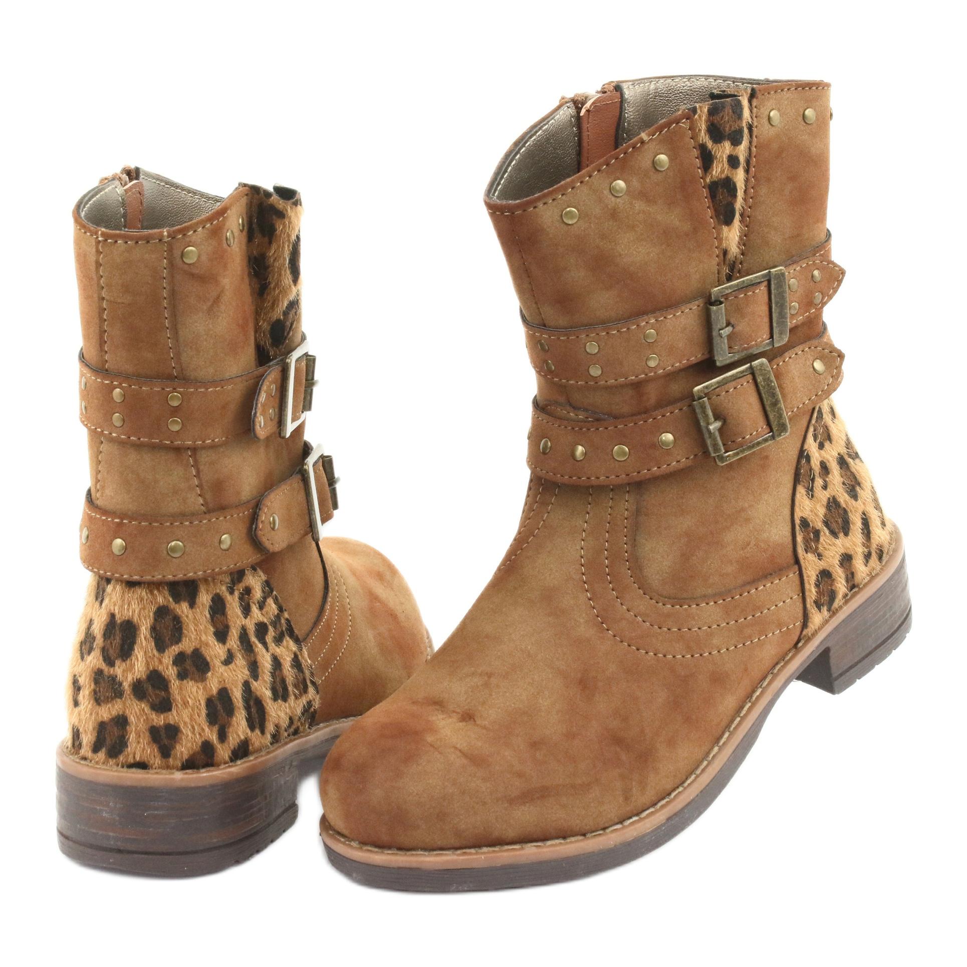 miniatura 5 - American Club Stivali di leopardo Getti marroni americani marrone