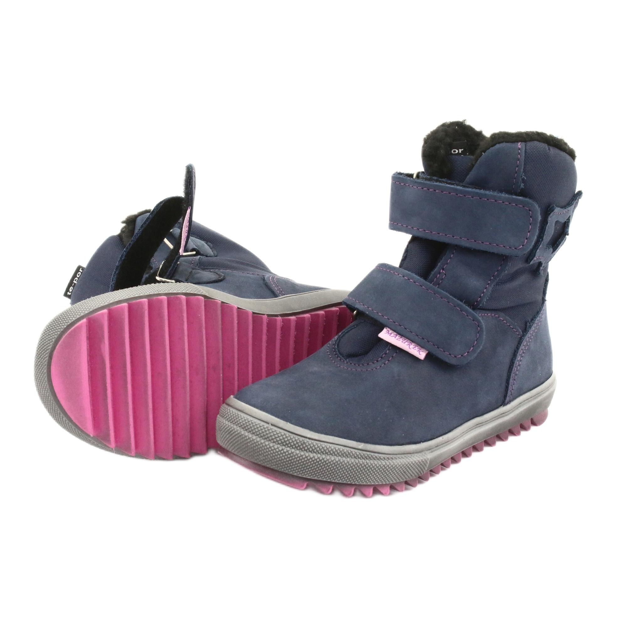 miniatura 6 - Stivali con una membrana Mazurek 1353 blu scuro marina rosa