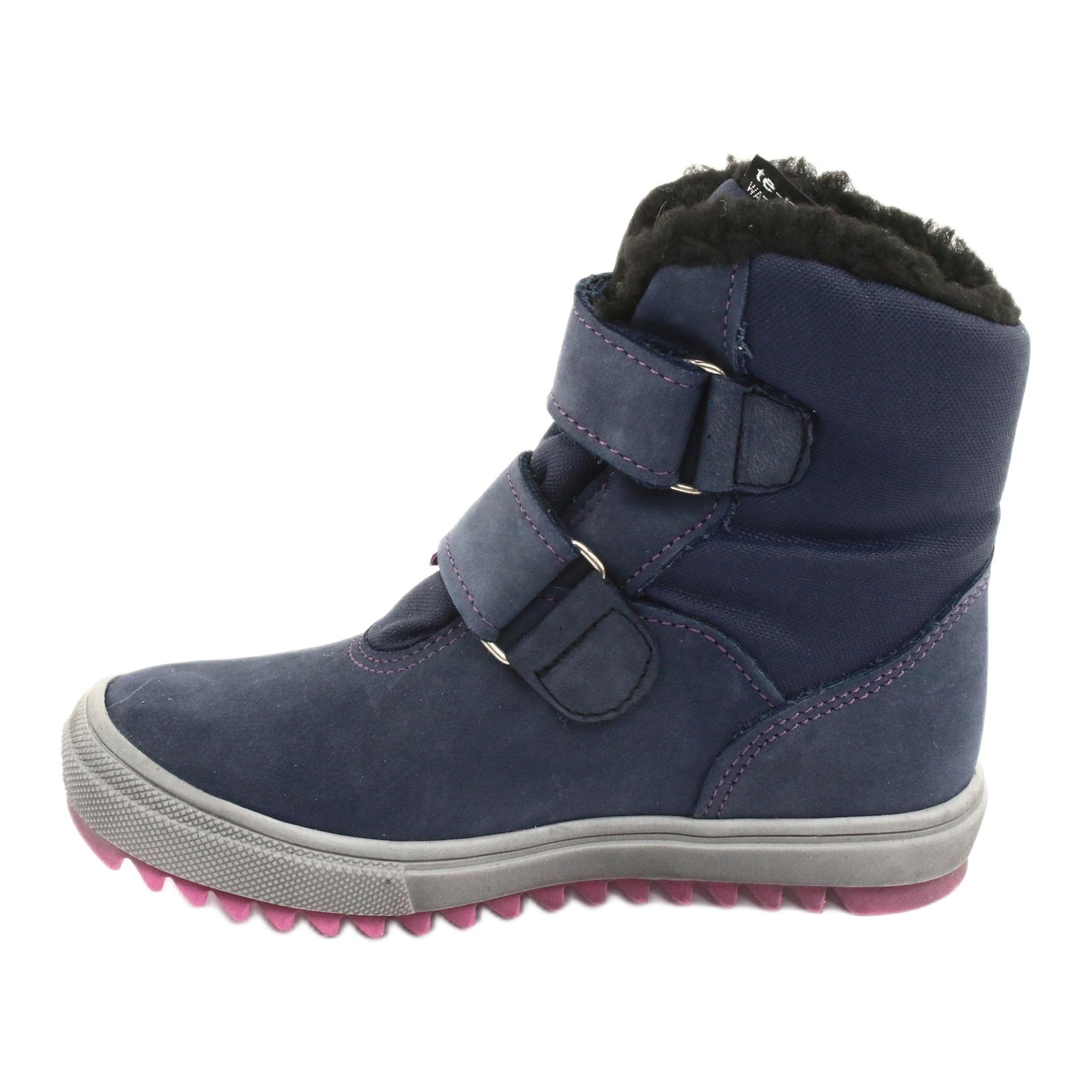 miniatura 3 - Stivali con una membrana Mazurek 1353 blu scuro marina rosa