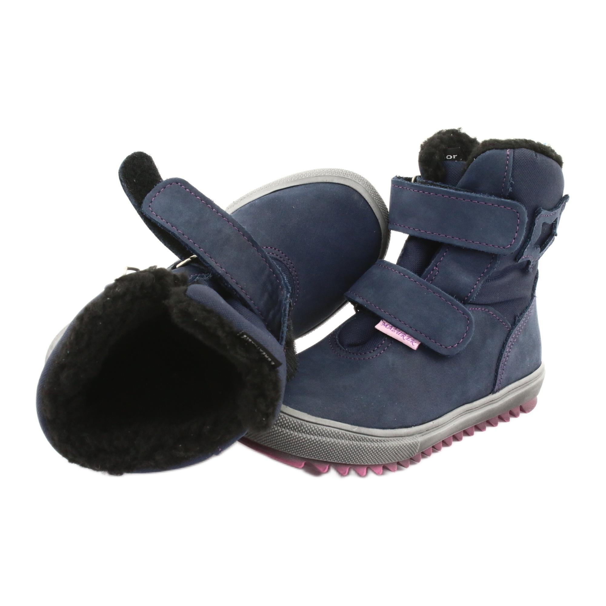 miniatura 5 - Stivali con una membrana Mazurek 1353 blu scuro marina rosa