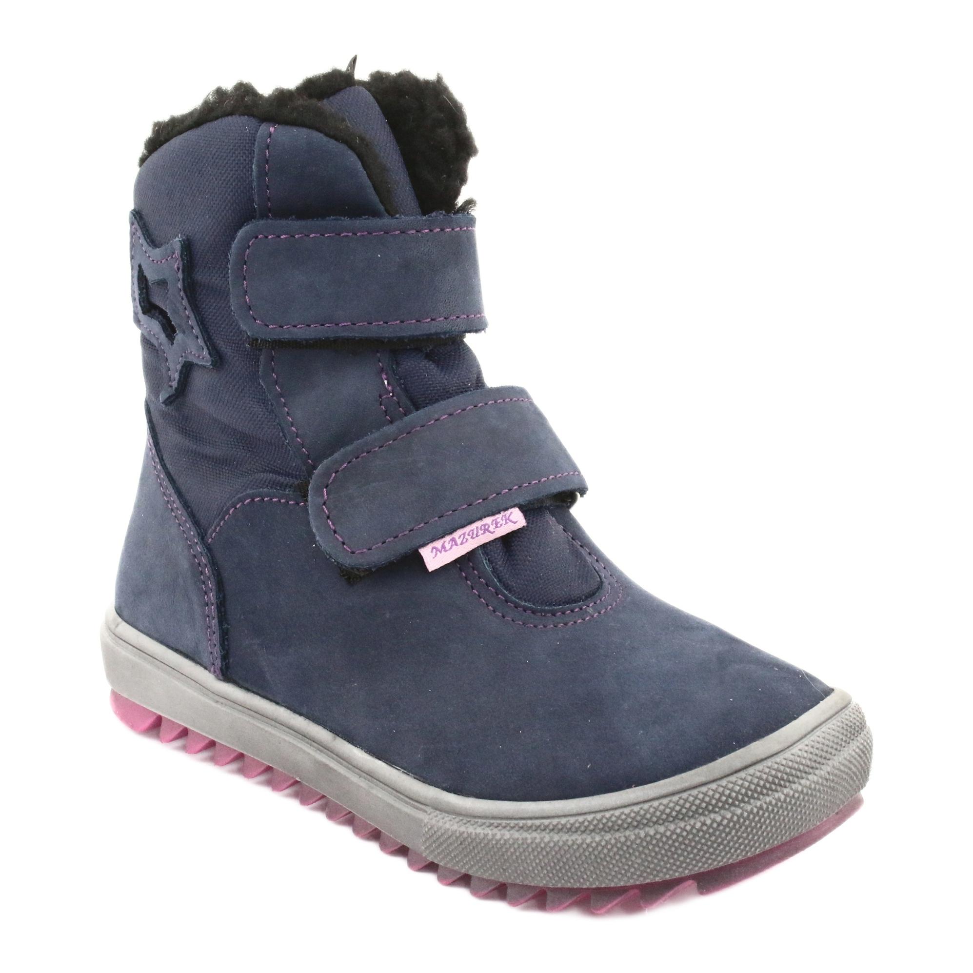 miniatura 2 - Stivali con una membrana Mazurek 1353 blu scuro marina rosa