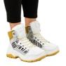Sneakers bianche da donna isolate F-19208-2 bianco 1