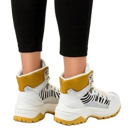 Sneakers bianche da donna isolate F-19208-2 bianco 2