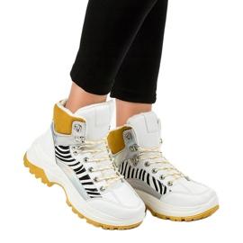 Sneakers bianche da donna isolate F-19208-2 bianco 3