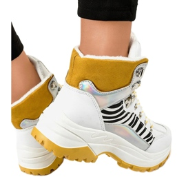 Sneakers bianche da donna isolate F-19208-2 bianco 4
