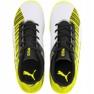 Scarpe da calcio Puma One 5.4 It Jr 105664 04 bianco, nero, giallo giallo 1